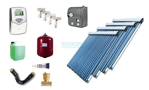 solaranlage warmwasser heizung 4 x etasunpro hlk30 hochleistungs r hrenkollektor. Black Bedroom Furniture Sets. Home Design Ideas