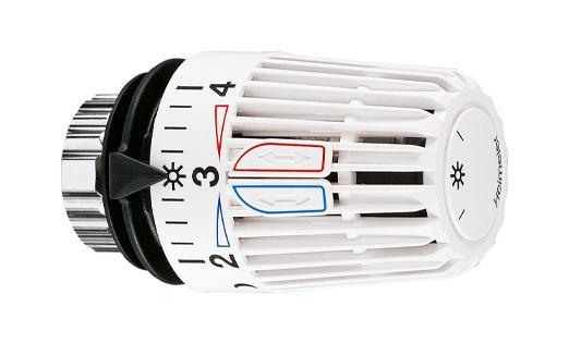 heimeier thermostat kopf k wei mit eingebautem f hler und nullstellung 47046 g nstig kaufen. Black Bedroom Furniture Sets. Home Design Ideas
