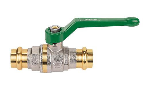 Rohr 15-28mm Pressanschluss bis 25 bar Bruse Press Kugelhahn DVGW geprüft