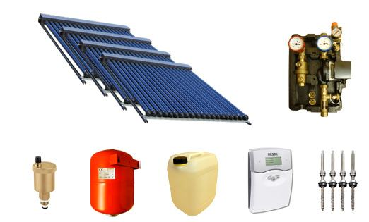 Solaranlage Warmwasser Und Heizung Mit 120 Swd Rohren 58 1800 19 8