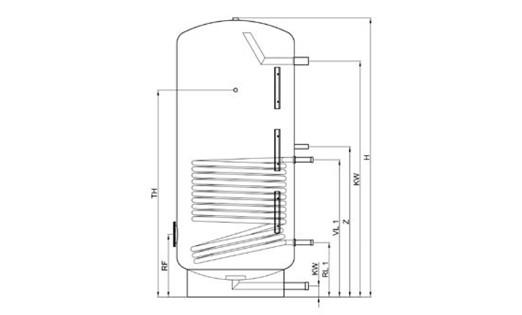 TWL Edelstahl Warmwasserspeicher 400 Liter mit ERP-ÖkoLine Isolierung